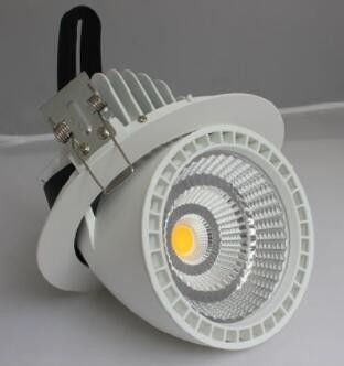 China Rotatable LED Gimbal Light 50W , CREE COB LED Downlight High Brightness supplier