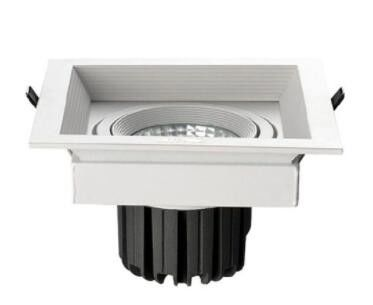 3X20W Recessed LED Ceiling Grille Downlights IP44 High Luminous Long lifespan